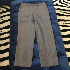 Banana Republic Dress Gray Pant Modern Fit Pinstri